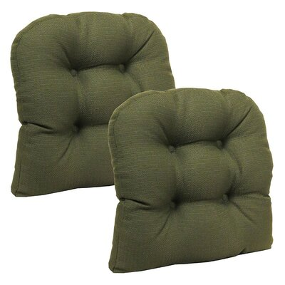 Dining Chair Cushion Set Color: Evergreen