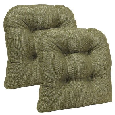 Dining Chair Cushion Set Color: Sage