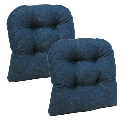 Dining Chair Cushion Set Color: Indigo