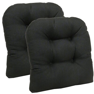Dining Chair Cushion Set Color: Midnight