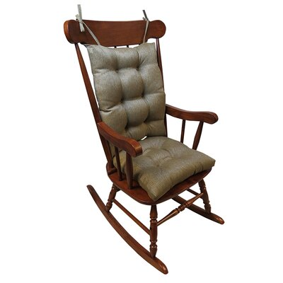 2 Piece Rocking Chair Cushion Color: Gold