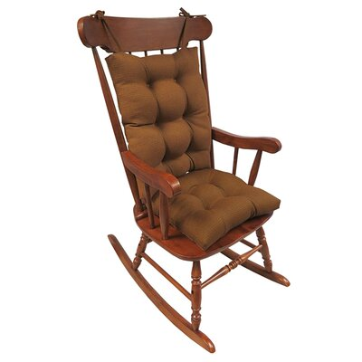 2 Piece Rocking Chair Cushion Color: Pumpkin