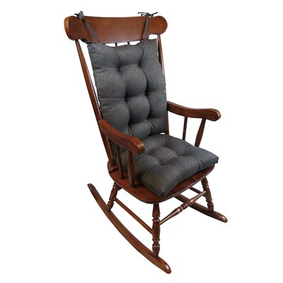 Omega 2 Piece Rocking Chair Cushion Color: Chestnut