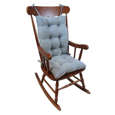 2 Piece Rocking Chair Cushion Color: Steel