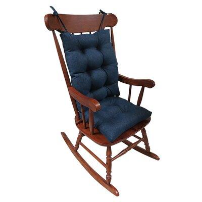 2 Piece Rocking Chair Cushion Color: Indigo