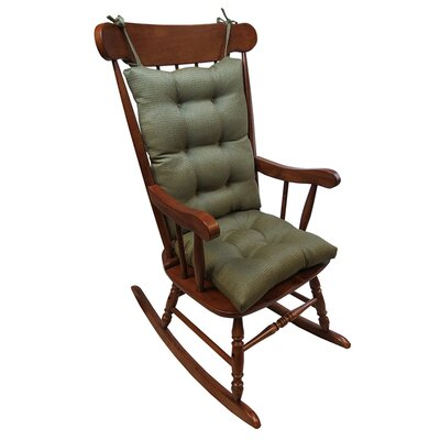 2 Piece Rocking Chair Cushion Color: Sage
