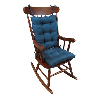 2 Piece Rocking Chair Cushion Color: Aqua