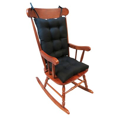 2 Piece Rocking Chair Cushion Color: Midnight