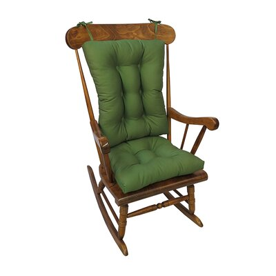 Twill Rocking Chair Cushion Color: Mastic