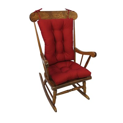 Twill Rocking Chair Cushion Color: Red
