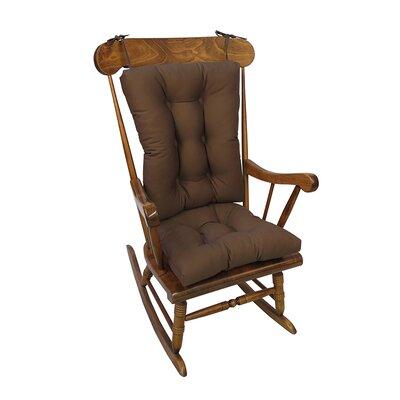 Twill Rocking Chair Cushion Color: Brown