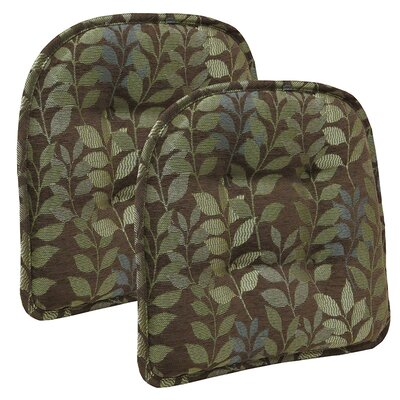 Dora Dining Chair Cushion Color: Chocolate