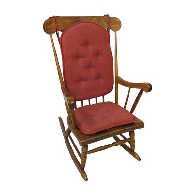 Saturn Rocking Chair Cushion Color: Red