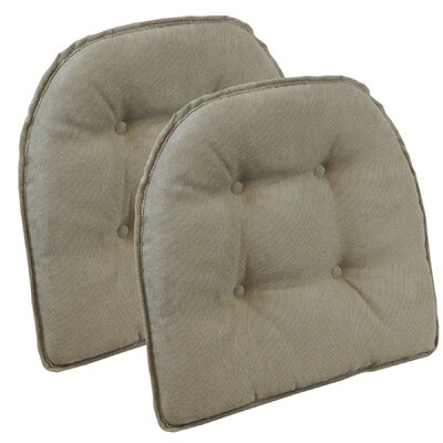 Twillo Dining Chair Cushion Fabric: Bronze