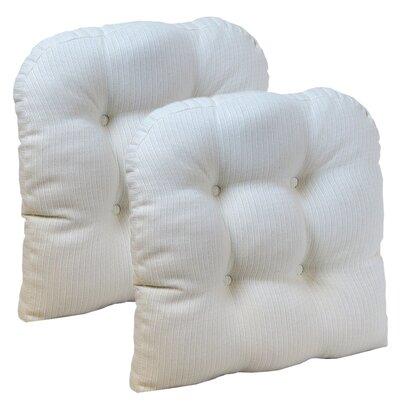 Dining Chair Cushion Set Color: Ivory