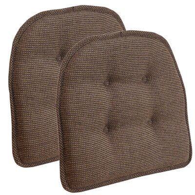 Thatcher Gripper Tufted Chair Cushion Color: Caf�