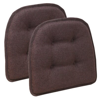 Thatcher Gripper Tufted Chair Cushion Color: Merlot