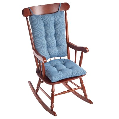 Saturn Rocking Chair Cushion Fabric: Blue