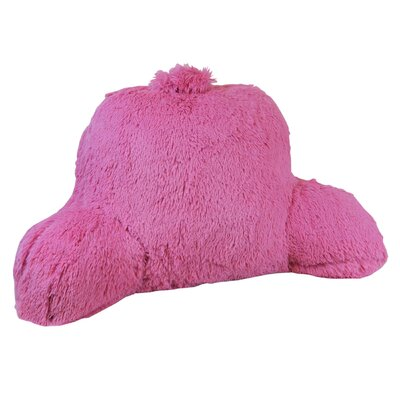 Shaggy Bed Rest Pillow Color: Pink