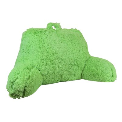 Shaggy Bed Rest Pillow Color: Green