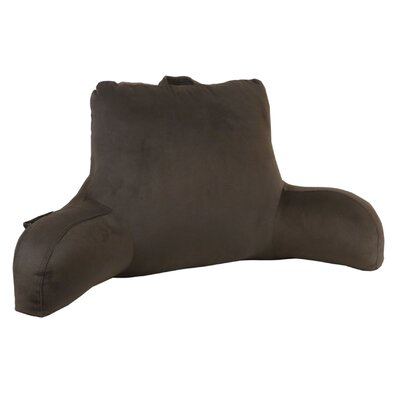 Plush Velour Bed Rest Pillow Color: Brown