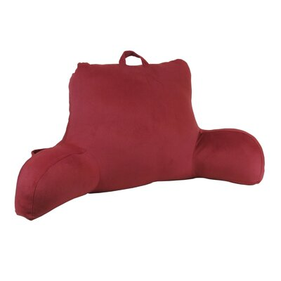 Plush Velour Bed Rest Pillow Color: Burgundy