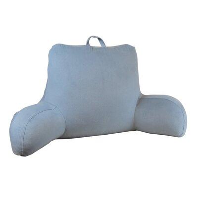 Plush Velour Bed Rest Pillow Color: Gray/Blue
