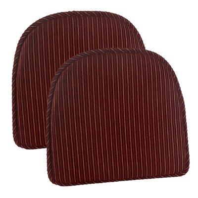 Nikita Gripper Delightful Dining Chair Cushion Fabric: Red