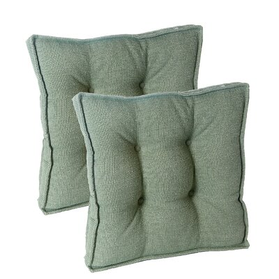 Saturn Square Universal Chair Cushion with Grip Dot Fabric: Celadon
