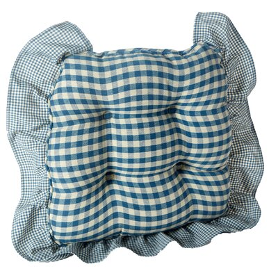 Universal Dining Chair Cushion Fabric: Blue