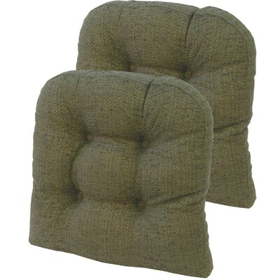 Tyson Universal Gripper Dining Chair Cushion Fabric: Green
