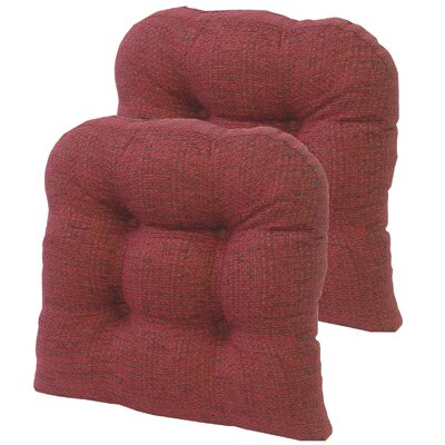 Tyson Universal Gripper Dining Chair Cushion Fabric: Red