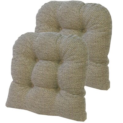 Tyson Universal Gripper Dining Chair Cushion Fabric: Natural