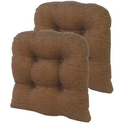 Tyson Universal Gripper Dining Chair Cushion Fabric: Chocolate