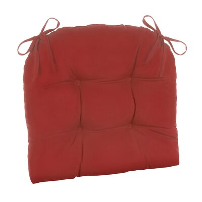 Indoor/Outdoor Patterned Extra Large Lounge Chair Cushion Fabric: Solid Red