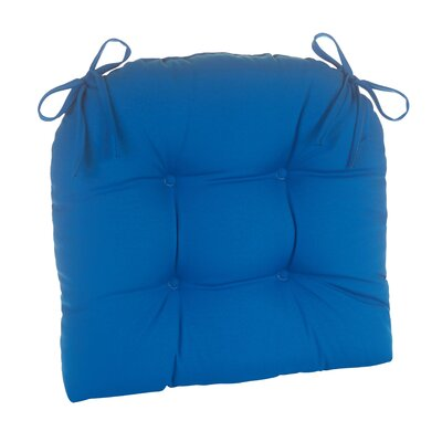 Indoor/Outdoor Patterned Extra Large Lounge Chair Cushion Fabric: Marine Blue