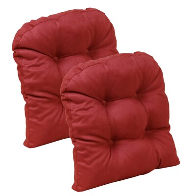 Obsession Chair Cushion Color: Red