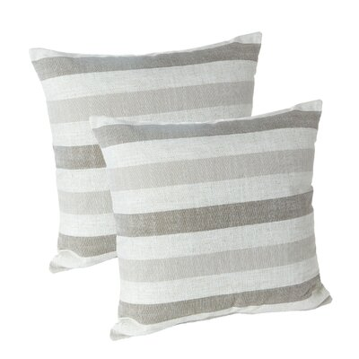 Ataie Stripe Decorative Throw Pillow Color: Taupe