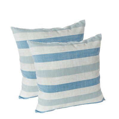 Ataie Stripe Decorative Throw Pillow Color: Blue