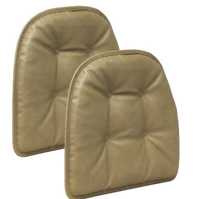 Winston Porter Gripper Dining Chair Cushion Fabric: Taupe