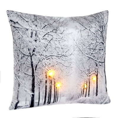 Celso LED Holiday Light Up Throw Pillow