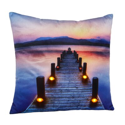 Destry LED Holiday Light Up Throw Pillow