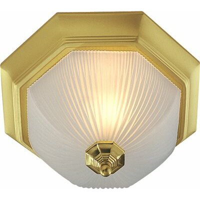 Decorative 1-Light Flush Mount Finish: Polished Brass