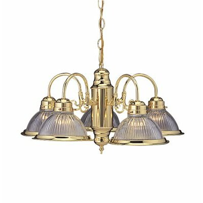 Traditional 5-Light Shaded Chandelier