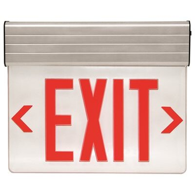 Edge-Lit LED Exit Sign Light