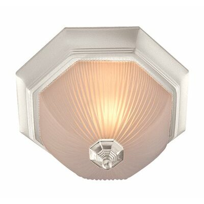 Decorative 1-Light Flush Mount Finish: White