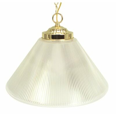 Prismatic Cone 1-Light Bowl Pendant Size: 15 W x 15 D