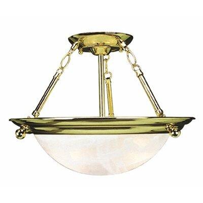 Contemporary 2-Light Bowl Pendant