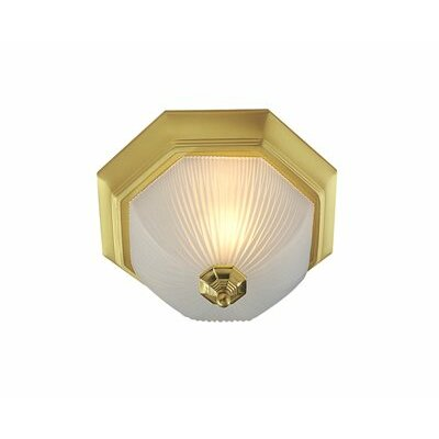 Polished Brass 3-Light Flush Mount