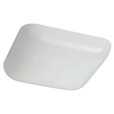 Square 1-Light Flush Mount Size: 3 H x 11 W x 11 D